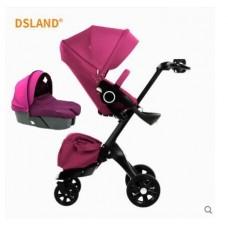 бебешка количка Dsland Aulon аналог Stokke Xplory лилаво