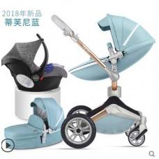 бебешка количка Hоt mоm  аналог Мима Хари/Mima Xari 3 в 1 Синьо