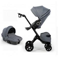 бебешка количка Dsland аналог Stokke Xplory сиво