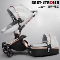бебешка количка AULON аналог Мима Хари/Mima Xari 2 в 1 сиво