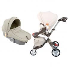 бебешка количка QIBEAR аналог Stokke Xplory бежево