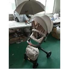 бебешка количка QIBEAR аналог Stokke Xplory бежево с черно шаси