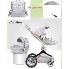 бебешка количка Hot Mom  сиво 2 в 1 :  Сиво
