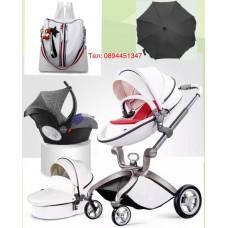 бебешка количка Hоt mоm  аналог Мима Хари/Mima Xari 3 в 1 бяло