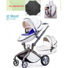 бебешка количка Hot Mom  аналог Mima Xari 2 в 1 бяло