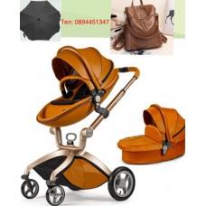 бебешка количка Hot Mom аналог Мима Хари/Mima Xari 2 в 1 кафяво
