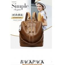 Чанта на мама от Кожа, дамска чанта раница