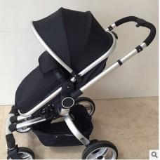 Бебешка количка V-baby 360-градусова въртене! Черна