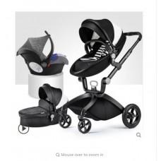 бебешка количка Hоt mоm аналог Мима Хари/Mima Xari 3 в 1 черно-бяло