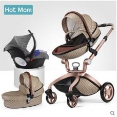 бебешка количка Hоt mоm аналог Мима Хари/Mima Xari 3 в 1 Gucci
