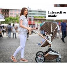 бебешка количка Dsland INBB аналог Stokke Xplory Розово