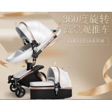 бебешка количка AULON аналог Мима Хари/Mima Xari 2 в 1 бяло